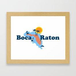 Boca Raton  - Florida. Framed Art Print