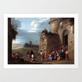 Cornelis van Poelenburgh Christ Carrying the Cross Art Print