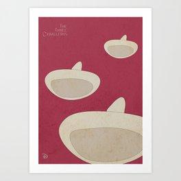 "DISNEY's ""The Three Caballeros"" - Minimal Movie Poster Art Print"