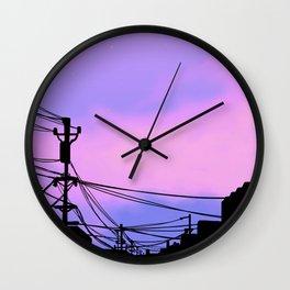 Aesthetic sunset Japanese Lo Fi  Wall Clock