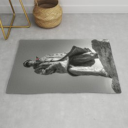 Colonel Sir Archibald David Stirling with a red poppy Rug