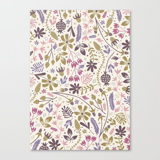 Vintage Blooms Canvas Print
