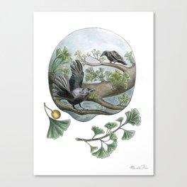 Ginkgo Birds Canvas Print