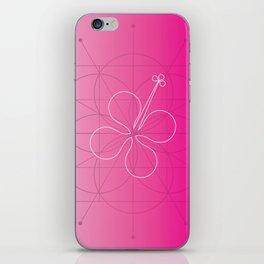 hibiscus window iPhone Skin