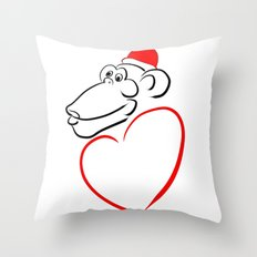 monkey with love - Year of the Monkey 2016 : Chinese Zodiac Sign  Throw Pillow