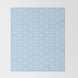 Geometric Hive Mind Pattern - Light Blue #280 Throw Blanket