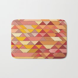 Triangle Pattern no.4 Warm Colors Red and Yellow Bath Mat
