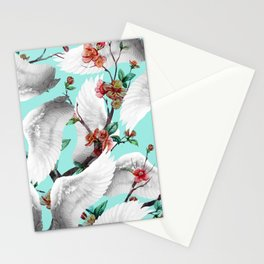 tropical wings flowers Stationery Cards