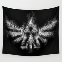 triforce Wall Tapestries featuring Triforce Smoke by Donnie
