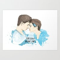the fault in our stars Art Prints featuring The Fault in Our Stars by Coconut Wishes