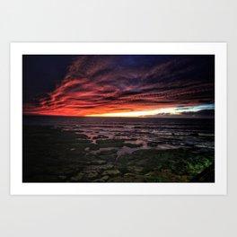 OB Sunset, San Diego Art Print