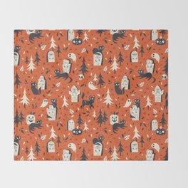 Cemetery Cuties (Orange) Throw Blanket