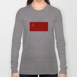 ussr cccp russia soviet union communist flag Long Sleeve T-shirt