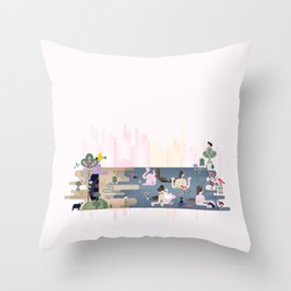 Peek-a-Boob Throw Pillow