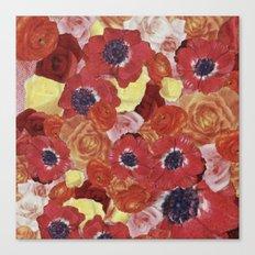Vintage Floral Collage Canvas Print