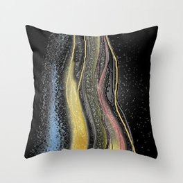 Fire and Ice Digital Painting Throw Pillow