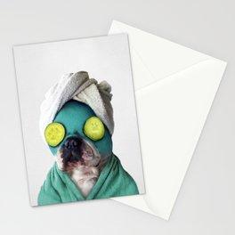 Dog SPA Art Print Stationery Cards