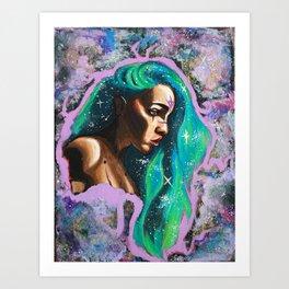 Galaxy Girl Series -2- Jade Art Print