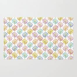 Heart Flower - colorful Rug
