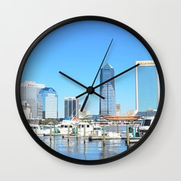 Jacksonville City Skyline Wall Clock