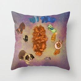 Doggoverse Throw Pillow