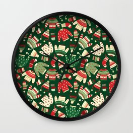 Ugly Christmas Fashion red green white Wall Clock