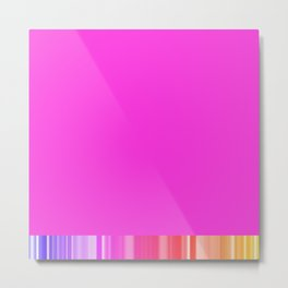 Cool pink colorful living Metal Print