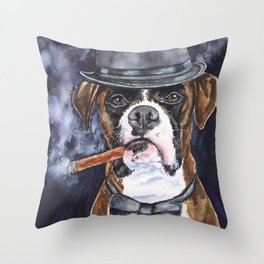 Mr Boxer Watercolor | Pillow Cover | Dogs | Home Decor | 16 x 12 Throw Pillow | Dog Mom Throw Pillow