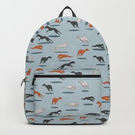 Greyhound Pattern Backpack