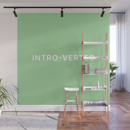 'INTRO-VERTED' - Green Wall Mural