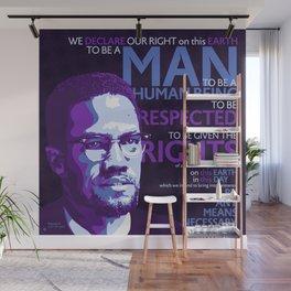 Malcolm X Wall Mural