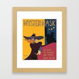 Myster Mask (Darkwing Duck) Framed Art Print