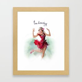 dancing ballerina3 Framed Art Print