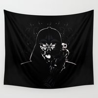 daenerys targaryen Wall Tapestries featuring Cyborg Face by kattie flynn