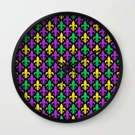 Mardi Gras Pattern | Funny Carnival Graphic Wall Clock