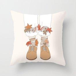 Autumn Walks Throw Pillow
