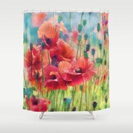 Poppy Parade Shower Curtain