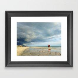 Walking the Storm Framed Art Print