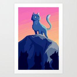 A Blue Leader Art Print