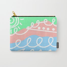 Crashing Waves - White Green Blue Carry-All Pouch