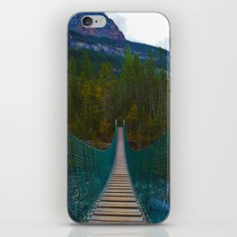Suspension Bridge along the Berg Lake Trail in British Columbia, Canada iPhone Skin