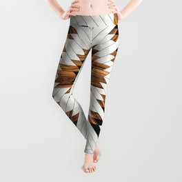 Urban Tribal Pattern 5 - Aztec - Concrete and Wood Leggings