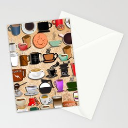 Coffee Mugs, Cups and Makers Stationery Cards
