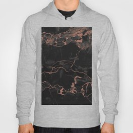 Black Marble and Rose Gold Hoody