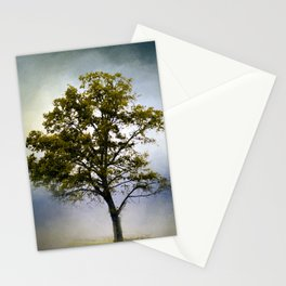 Emerald Waters Cotton Field Tree - Landscape Stationery Cards
