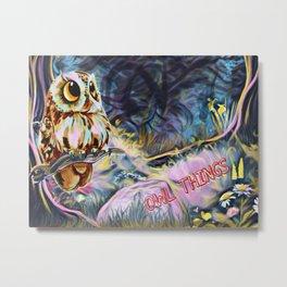 Owl Things Metal Print