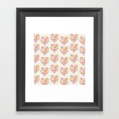 Pour Toujours pattern Framed Art Print