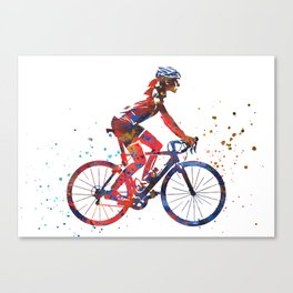 Road cycling, cyclist road bicycle Canvas Print