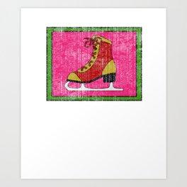 Lovely Gift Ice Skating Tshirt Design I'm at home Art Print