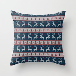 Deers with Trees Throw Pillow